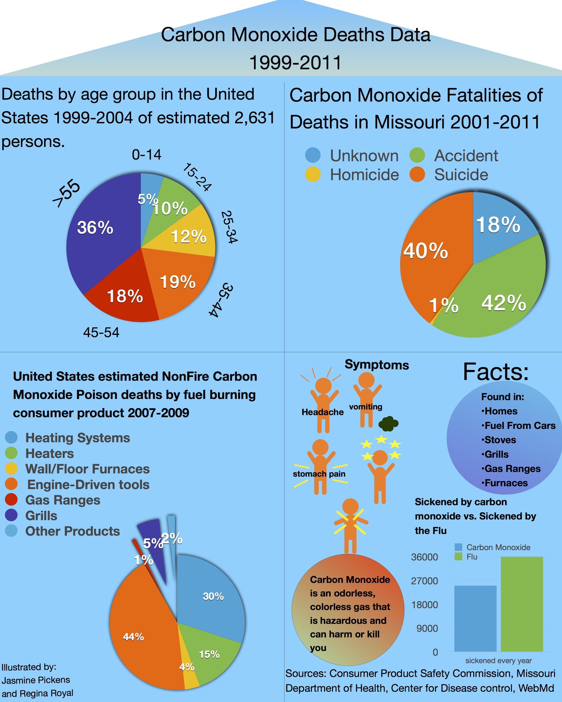 Infographic: Carbon Monoxide Deaths Data – SLI