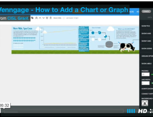 Venngage: How to add a chart or graph